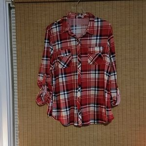 Passport Black and Red Plaid shirt